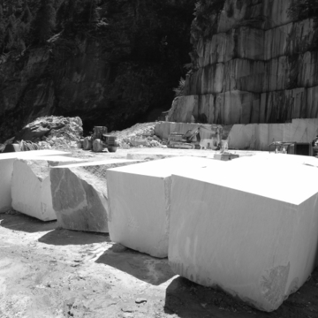Current situation of the marble-quarry.
